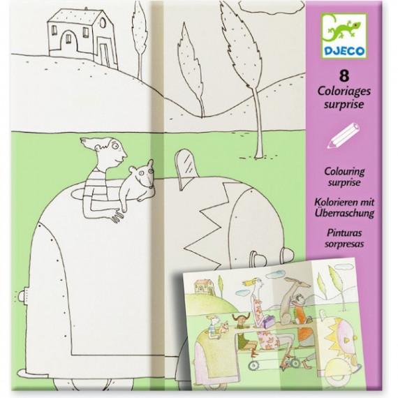 """Coloriages surprises """"Cache-cache"""" DJECO 9634"""