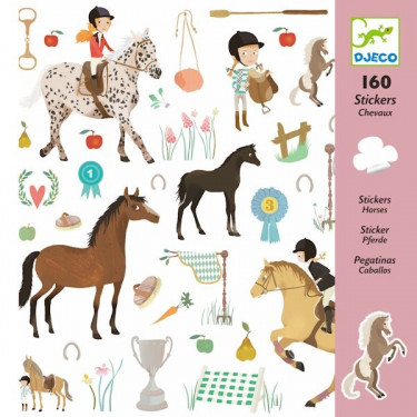 Stickers 'Chevaux' Djeco 8881