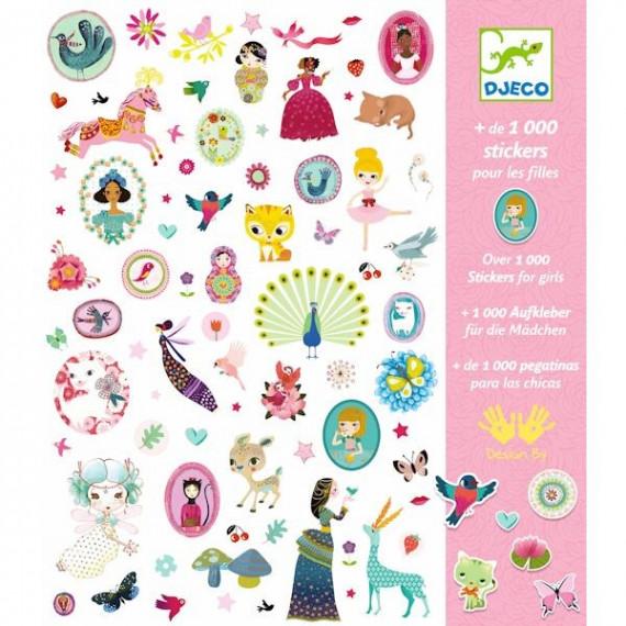 1000 stickers pour les filles Djeco 8951