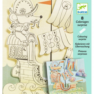 Coloriages surprises Explorateurs DJECO 9636