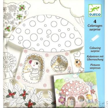 Coloriages surprises 'Poucettes' DJECO 9637