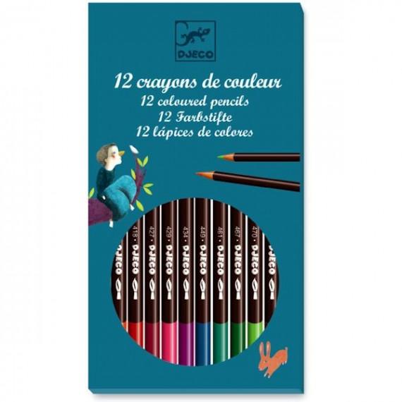 12 crayons de couleur DJECO 8824