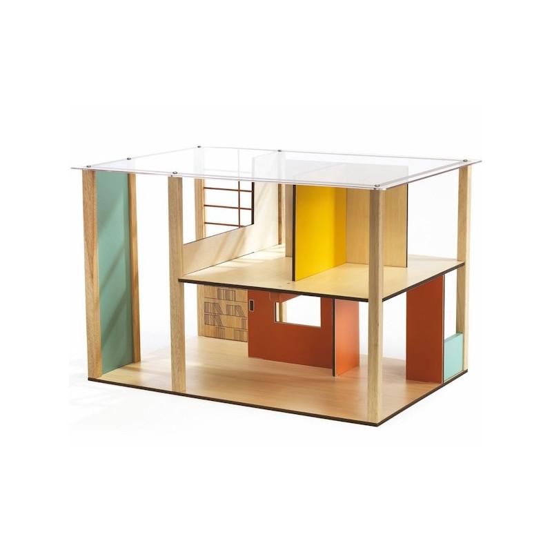 maison de poup es cubic house djeco 7801. Black Bedroom Furniture Sets. Home Design Ideas