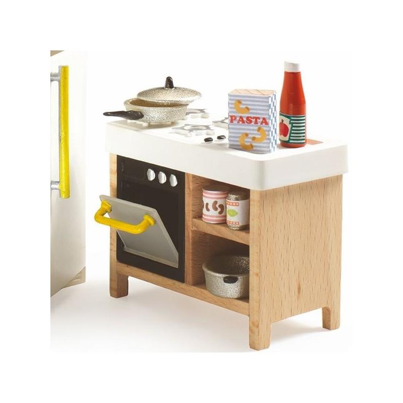 cuisine djeco meubles maison de poup es jouets et merveilles. Black Bedroom Furniture Sets. Home Design Ideas