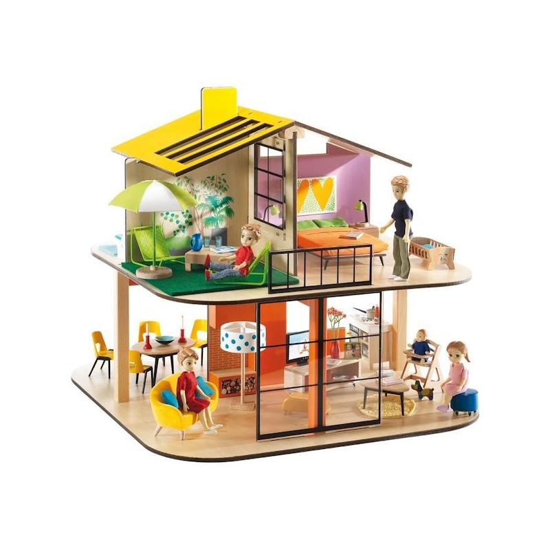 maison de poup es meubl e djeco. Black Bedroom Furniture Sets. Home Design Ideas