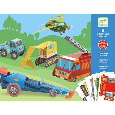 Paper Toys Les engins DJECO 9702