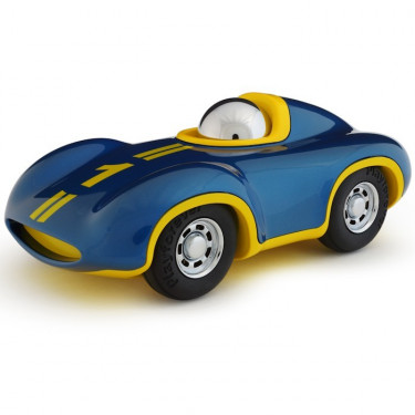 Voiture Playforever Le Mans bleue et jaune 'SPEEDY'