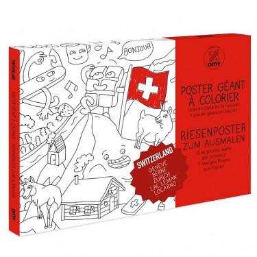 Poster Suisse à colorier, Omy