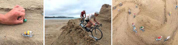 jeu de bille cycliste
